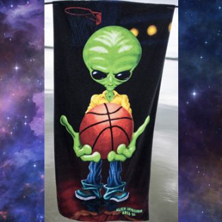Space Aliens - Roswell Basketball Player 1 Beach Towel